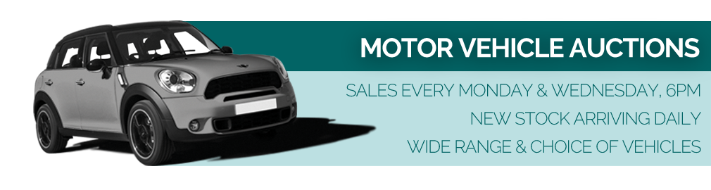 Motor vehicle auctions every Monday and Wednesday