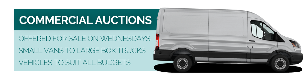 Commercial vehicle auctions every Wednesday