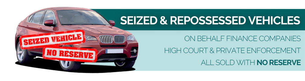 Seized and Repossessed vehicle sales